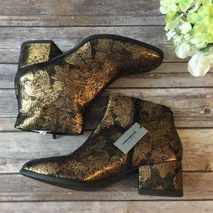 Vagabond Bronze Metallic Ankle Boots